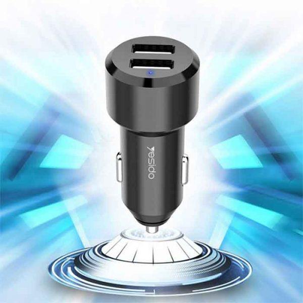 خرید اینترنتی شارژر فندکی یسیدو مدل Y34