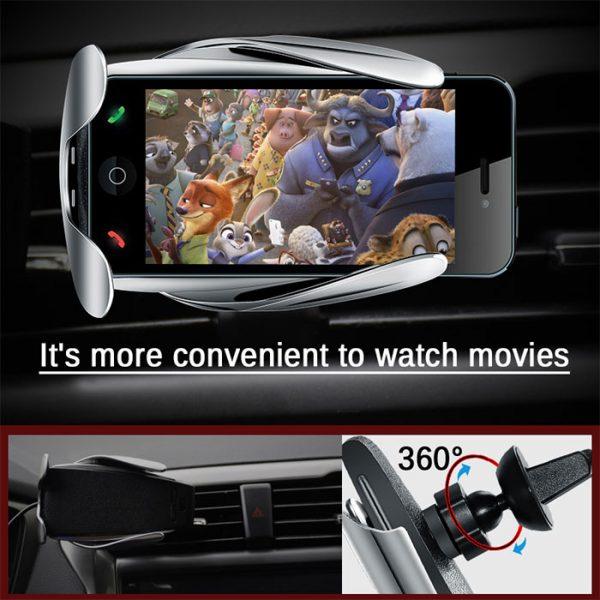 پایه نگهدارنده و شارژر بی سیم گوشی موبایل مدل S5
