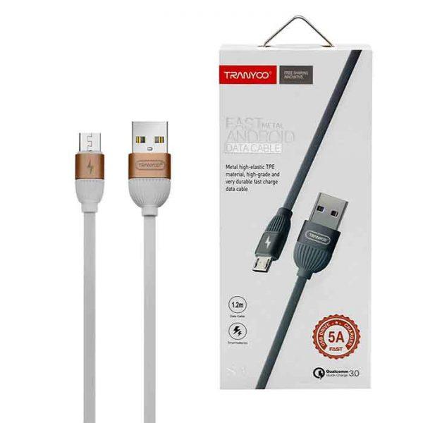 کابل USB به micro-usb ترانیو مدل S3 طول 1.2 متر 5 آمپر
