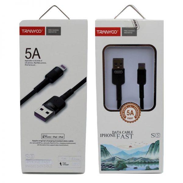 کابل USB به لایتنینگ ترانیو مدل S5 طول ۱ متر 5 آمپر