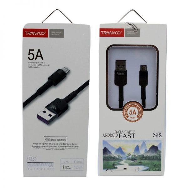 کابل USB به micro-usb ترانیو مدل S5 طول 1 متر ۵ آمپر