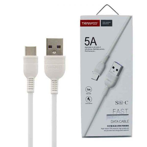 کابل USB به Type-C ترانیو مدل S6 طول ۱ متر ۵ آمپر