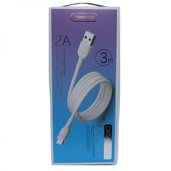 کابل USB به Type-C ترانیو مدل S7 طول 3 متر 2 آمپر