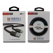 کابل USB به لایتنینگ ترانیو مدل X10 طول 1متر 6آمپر 25وات