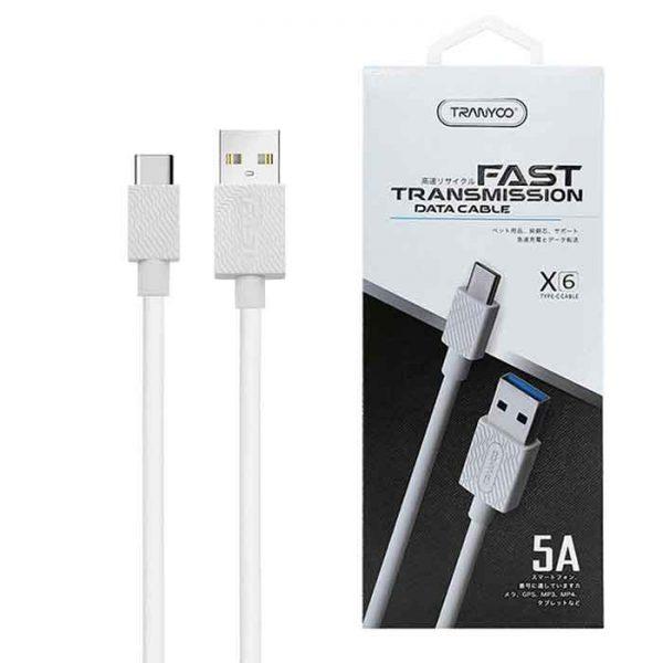 کابل USB به Type-C ترانیو مدل X6 طول 1متر 5آمپر