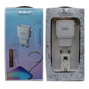 Tranyoo V20 wall charger with MicroUsb cable