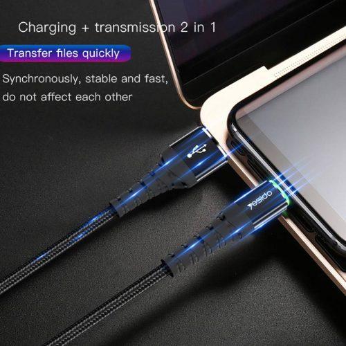 کابل USB به microUSB یسیدو مدل Ca35 طول ۱٫۲ متر ۲٫۴ آمپر