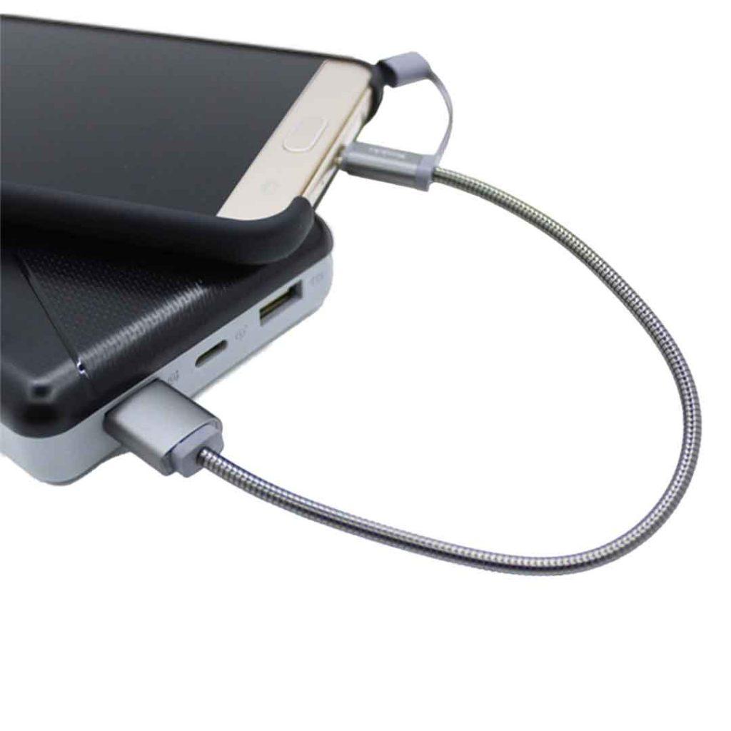 کابل USB به micro-usbیسیدو مدل CaT1 طول 20 سانتیمتر ۲٫۴ آمپر