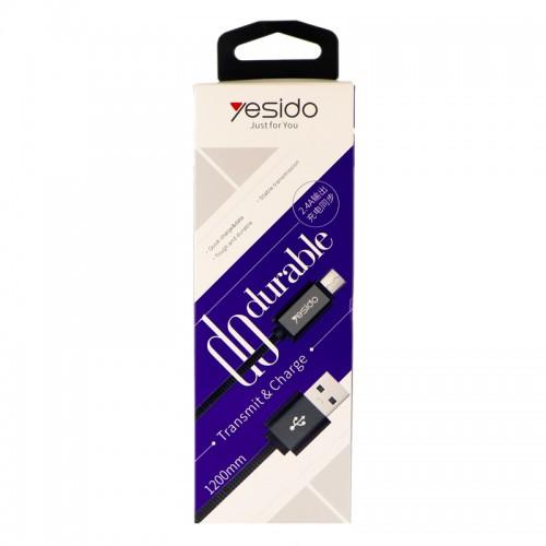 کابل USB به micro-usb یسیدو مدل CaT2 طول 1.2 متر 2.4 آمپر