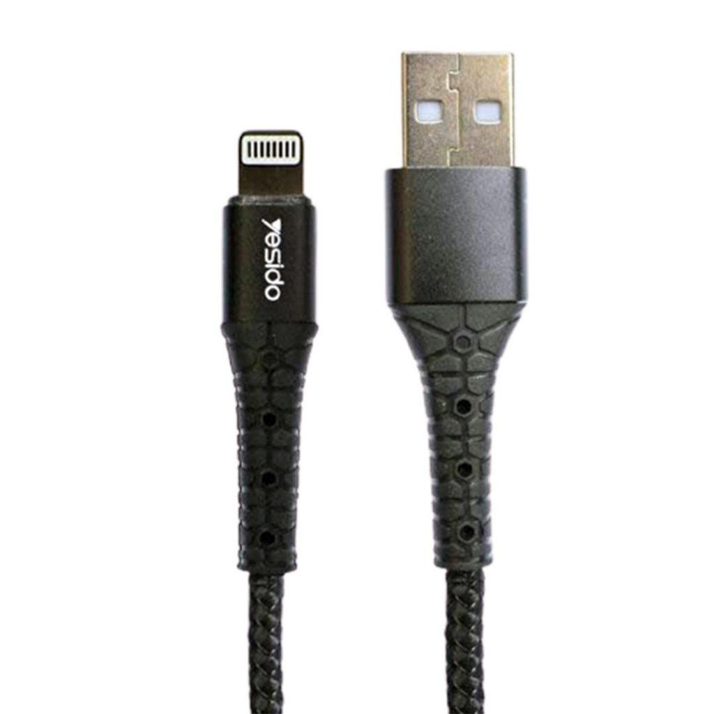 کابل USB به لایتنینگ یسیدو مدل CaT5 طول ۱متر ۲٫۴ آمپر