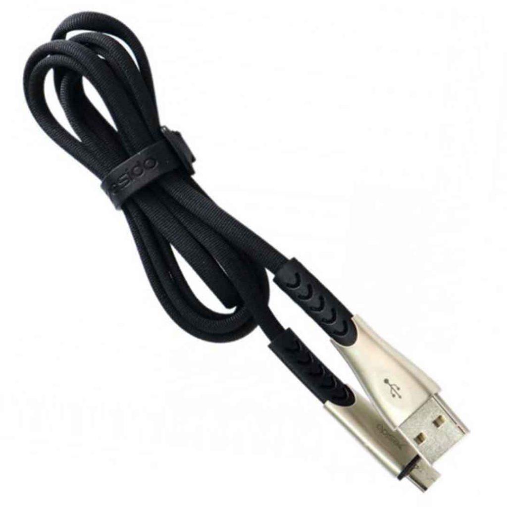 کابل USB به micro-usb یسیدو مدل Ca24 طول ۱٫۲متر ۲٫۴ آمپر