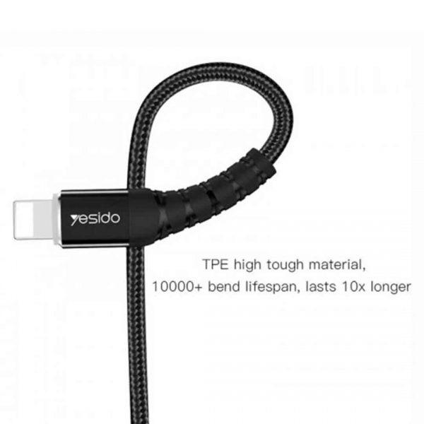 کابل USB به لایتنینگ یسیدو مدل Ca35 طول 1.2 متر ۲٫۴ آمپر