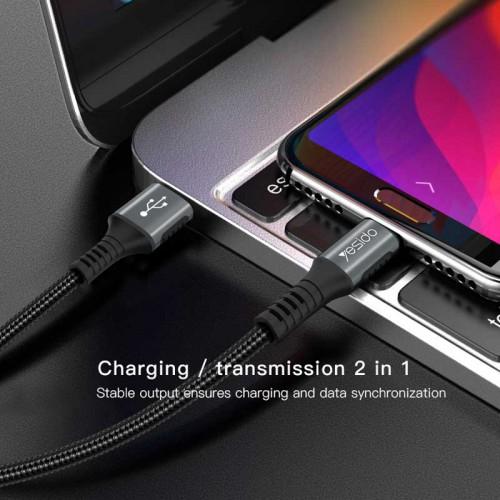 کابل USB به لایتنینگ یسیدو مدل Ca36 طول ۱٫۲متر ۲٫۴ آمپر