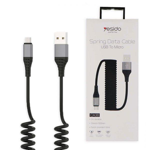 کابل USB به micro-usb یسیدو مدل Ca38 طول 1.2متر 2.4 آمپر