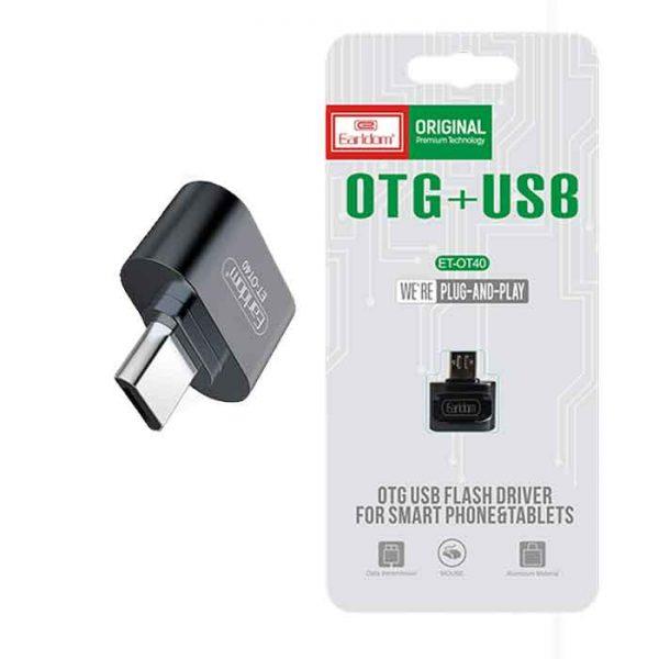 Earldom OT40 3A OTG USB To MicroUSB Adapter