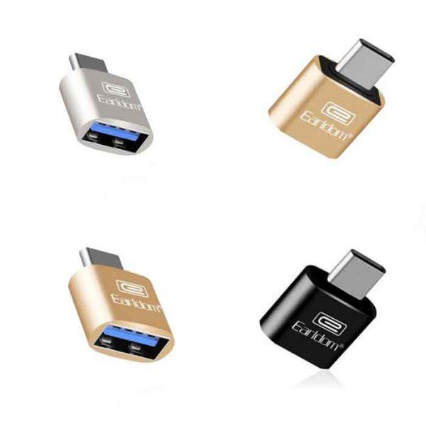 مبدل Type-C به USB OTG ارلدام مدل ET-OT18