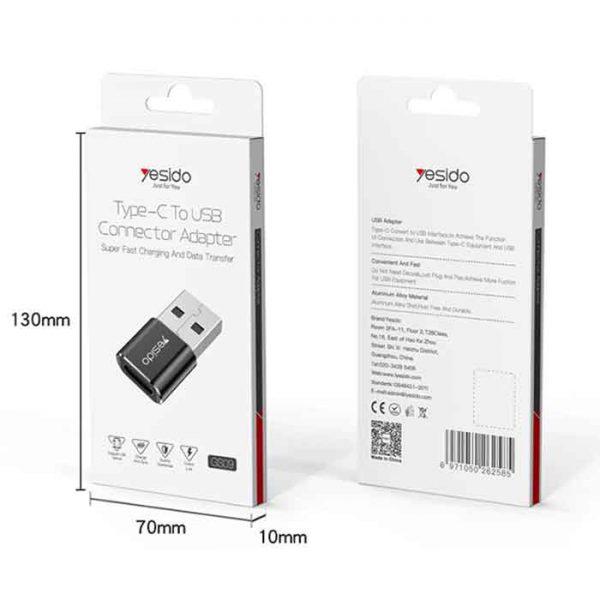 تبدیل Yesido GS09 Type-C To USB