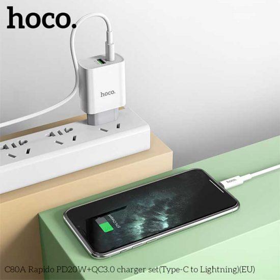 شارژر دیواری فست شارژ هوکو CA80A