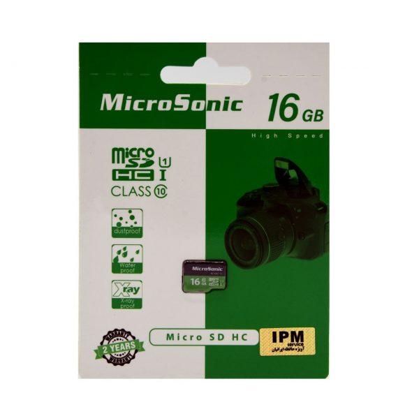 کارت حافظه microSDHC میکروسونیک مدل U1 ظرفیت 16 گیگابایت