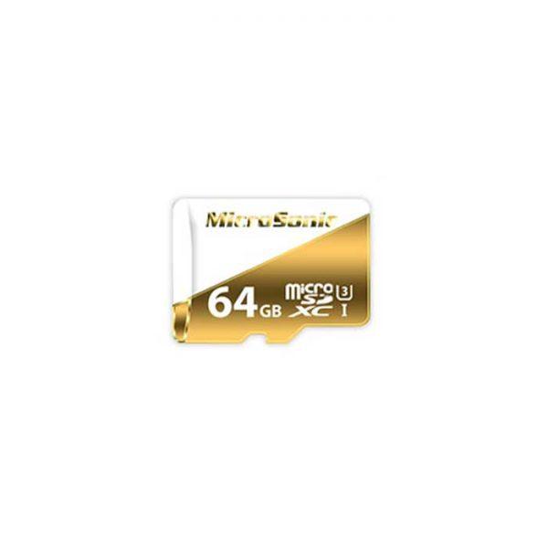 کارت حافظه microSDXC میکروسونیک مدل U3 ظرفیت 64 گیگابایت