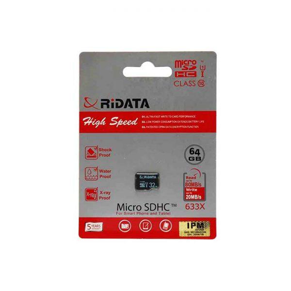 کارت حافظه microSDHC ریدیتا مدل U3 ظرفیت 64 گیگابایت