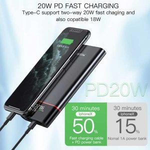 قیمت پاوربانک فست یسیدو مدل YP15 ظرفیت ۱۰۰۰۰ میلی آمپر ساعت