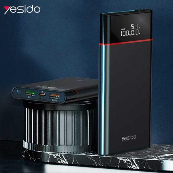 خرید پاوربانک فست یسیدو مدل YP15 ظرفیت ۱۰۰۰۰ میلی آمپر ساعت