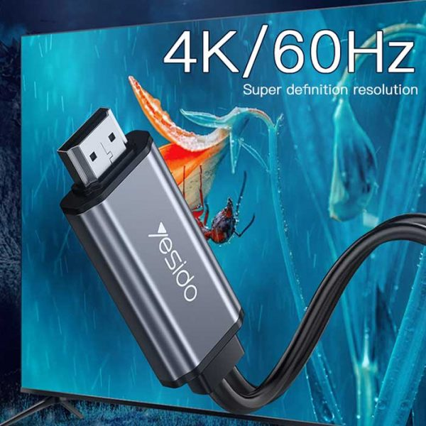 کابل Type-Cبه Hdmi یسیدو 4k مدل HM02 طول 1.8 متر