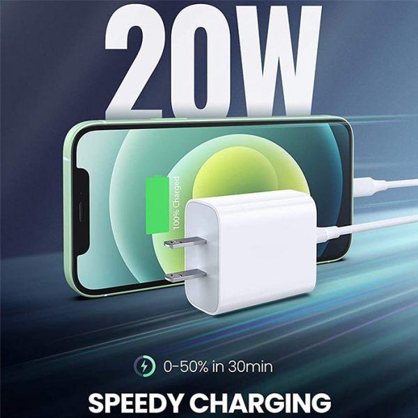 خرید شارژر دیواری اپل استوری 20 وات آیفون APPLE 12 US